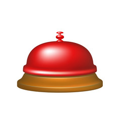 Service bell in red design vector