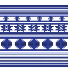 Set of ethnic ornament pattern in blue color vector