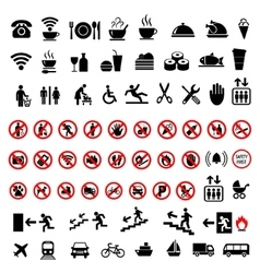 Set social icons on a white background vector image vector image