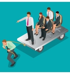 Team work Business concept Group of people team vector image