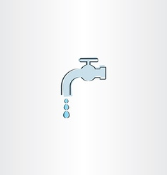 water drop tap icon vector image