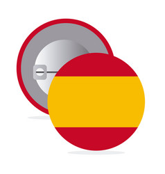 White round pin with flag of spain vector