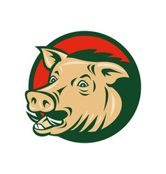 Wild boar or razorback vector