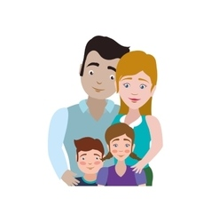 Family kids couple parents icon graphic vector