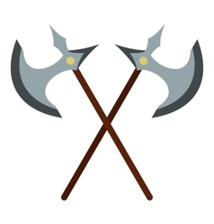 Medieval battle axe icon flat style vector