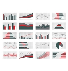 Set of graphs and charts data and statistic vector