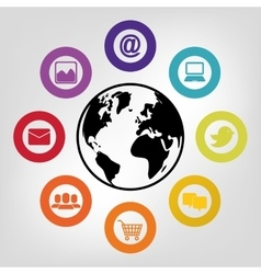 Social media and networking vector