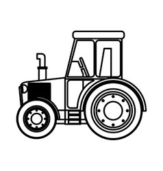 Isolated farm tractor design vector