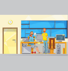 programmers at work composition vector image
