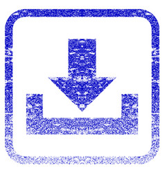 Downloads framed textured icon vector