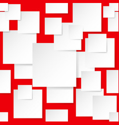 Seamless texture square for design on red vector