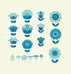 flower horizontal design element template vector image
