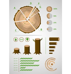 Log infographic vector