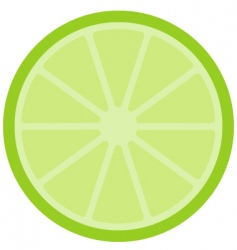Simple lime icon vector