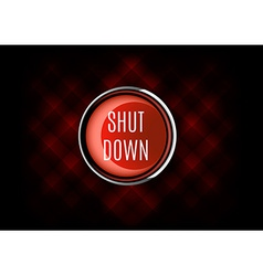 Shut down button vector