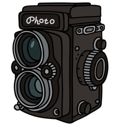 Retro photographic camera vector