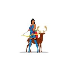 Artemis sign mythological greek goddess of vector