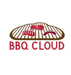 Bbq cloud concept design template vector