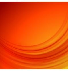 Orange smooth lines background vector