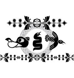 vikings animals stencil vector image