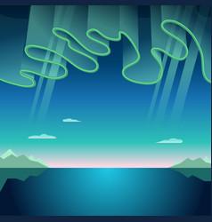 aurora borealis vector image vector image