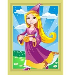 Beautiful fairy with a magic pulsar vector