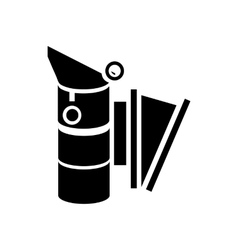 Bee smoker icon in simple style vector