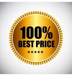 Best Price Golden Label EPS10 vector image vector image
