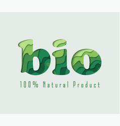 bio paper cut concept vector image vector image