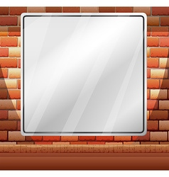Blank border on brick wall vector image