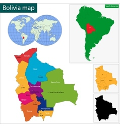 Bolivia map vector