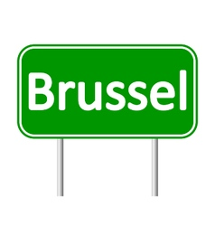 Brussel road sign vector