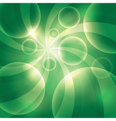Bubble Green background vector image vector image