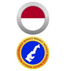 Button as a symbol monaco vector