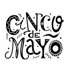 Chinko de mayo lettering vector