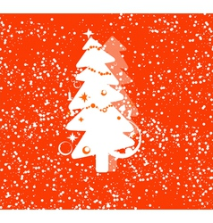 Christmas tree card vector image vector image