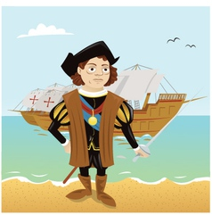 Christopher Columbus vector image vector image