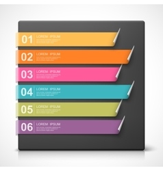 Colorful curled bookmarks vector