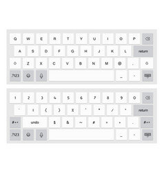 Compact virtual keyboard vector