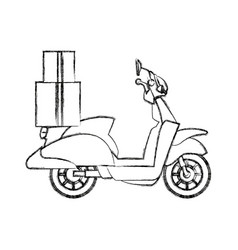 delivery scooter logistics and delivery transport vector image vector image