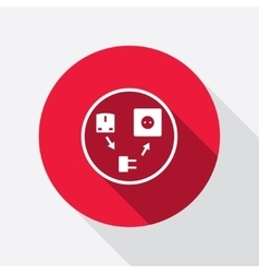 Electric plug icon adapter symbol european vector