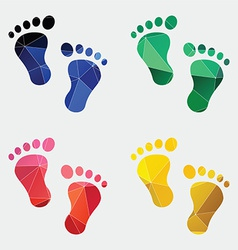 Footprints icon abstract triangle vector
