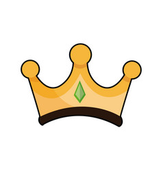 Gold crown of wise king manger accessory vector