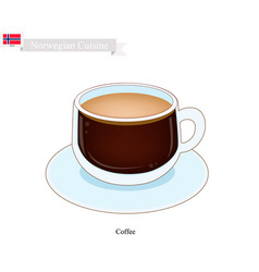 Hot coffee a popular drink in norway vector