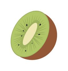 Kiwi tropical fruit icon vector