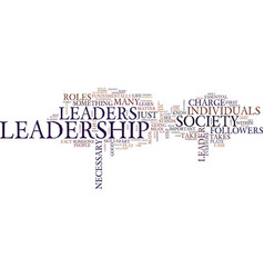 Leadership is it for you text background word vector
