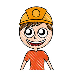 male miner avatar character vector image