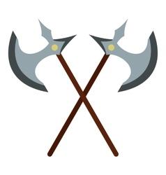 Medieval battle axe icon flat style vector
