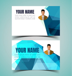 name card template7 vector image vector image