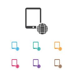 of finance symbol on global vector image